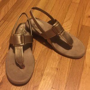 "LifeStride ""Brooke"" sandals. Soft gold. EUC."